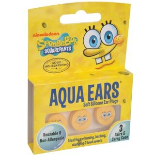 Детские силиконовые беруши Sponge Bob Square Pants 3 пары