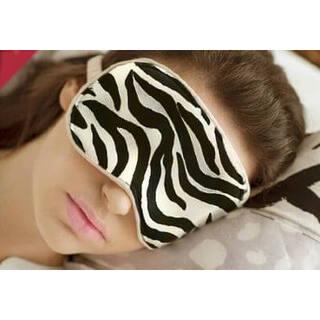 Маска для сна шелк черно-белая