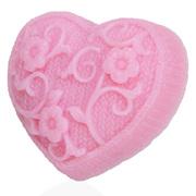 Мыло лавандовое ручной работы Сердце с цветами