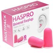 Пенные беруши для сна 10 пар HASPRO MULTI10 SNR 38 дБ Розовые