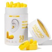 Пенные беруши для сна 50 пар HASPRO TUBE50 SNR 38 дБ Желтые