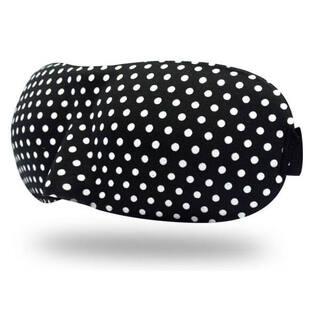 Очки для сна 3D черные в горошек