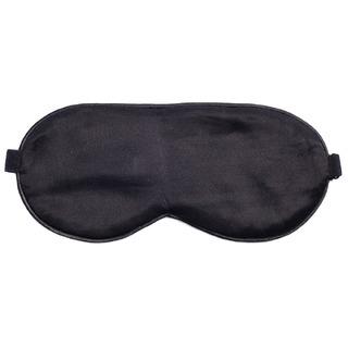 Маска для сна шелк черная